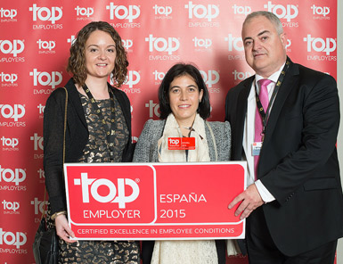 Cetelem recoge el certificado Top Employer 2015